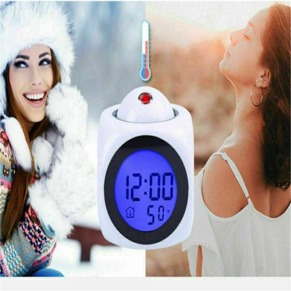 Alarm Clock Led Wallceiling Projection Lcd Digital Voice Talking Temperature (8)