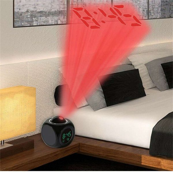Alarm Clock Led Wallceiling Projection Lcd Digital Voice Talking Temperature (9)