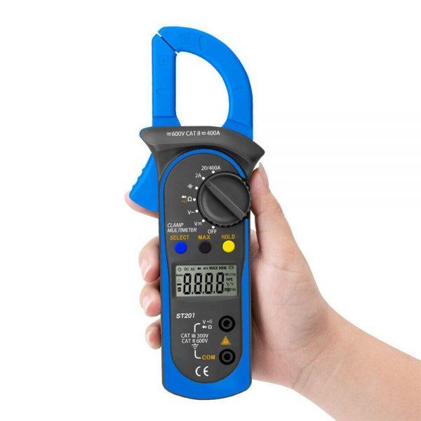 Ammeter Multimeter Handheld Lcd Clamp Digital Acdc Volt Capacitance Tester (11)