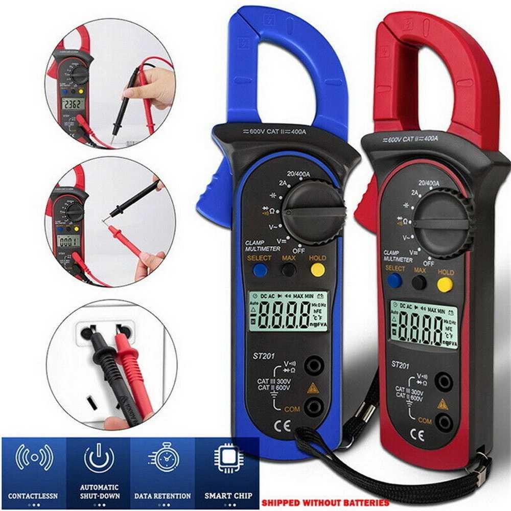 Ammeter Multimeter Handheld Lcd Clamp Digital Acdc Volt Capacitance Tester (13)
