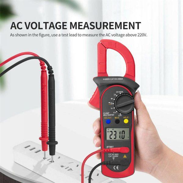 Ammeter Multimeter Handheld Lcd Clamp Digital Acdc Volt Capacitance Tester (14)