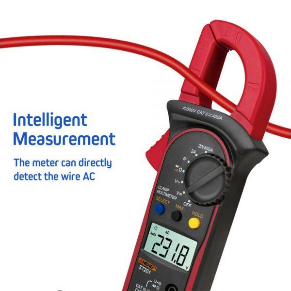 Ammeter Multimeter Handheld Lcd Clamp Digital Acdc Volt Capacitance Tester (19)