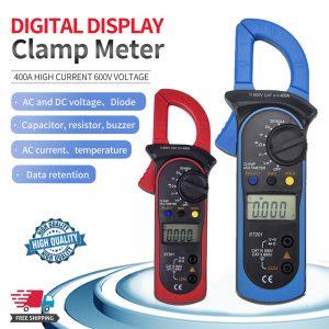 Ammeter Multimeter Handheld Lcd Clamp Digital Acdc Volt Capacitance Tester (2)