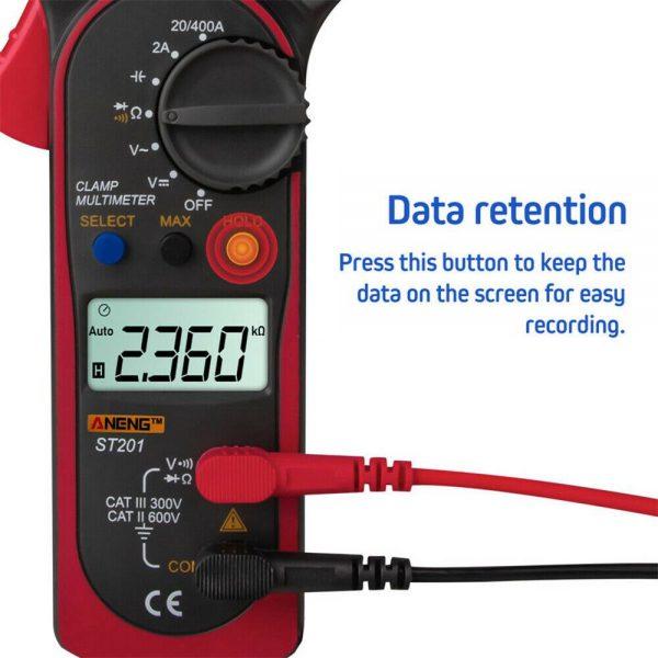 Ammeter Multimeter Handheld Lcd Clamp Digital Acdc Volt Capacitance Tester (5)