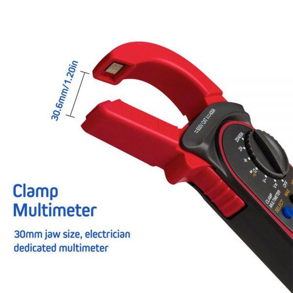 Ammeter Multimeter Handheld Lcd Clamp Digital Acdc Volt Capacitance Tester (6)