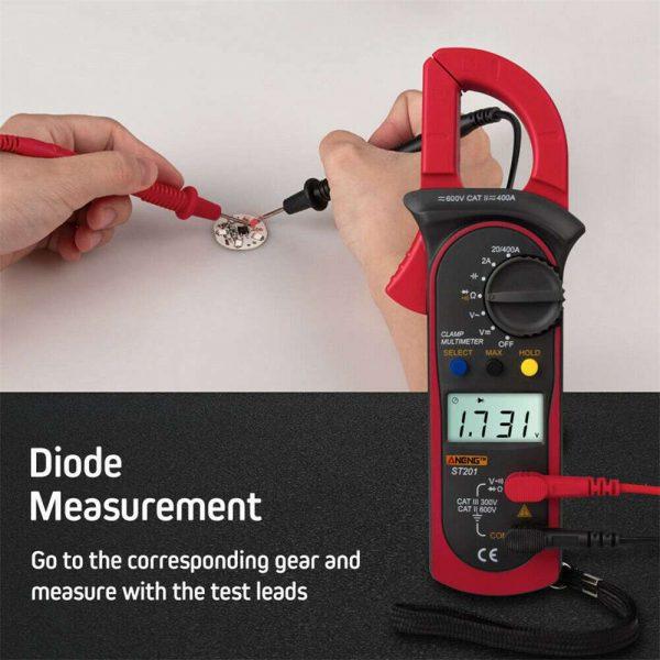 Ammeter Multimeter Handheld Lcd Clamp Digital Acdc Volt Capacitance Tester (7)