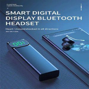 Bqc 01 Wireless Bluetooth Led Private Model Pull Smart Stereo Ports Digital Display Earphone (12)