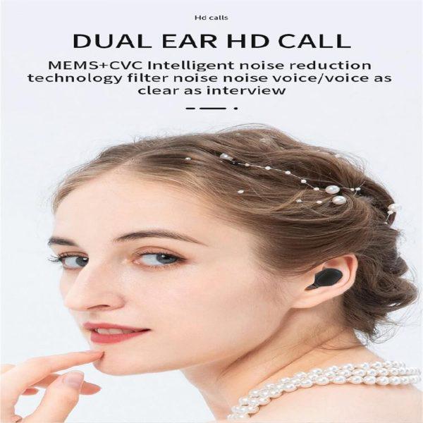 Bqc 01 Wireless Bluetooth Led Private Model Pull Smart Stereo Ports Digital Display Earphone (15)