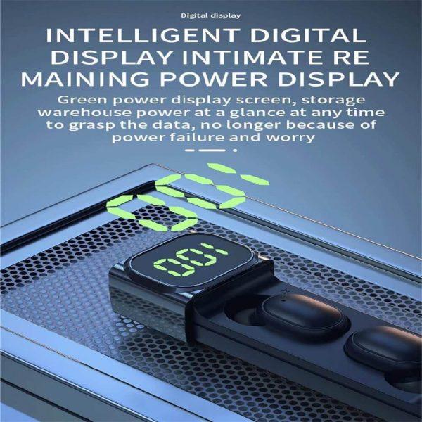 Bqc 01 Wireless Bluetooth Led Private Model Pull Smart Stereo Ports Digital Display Earphone (9)