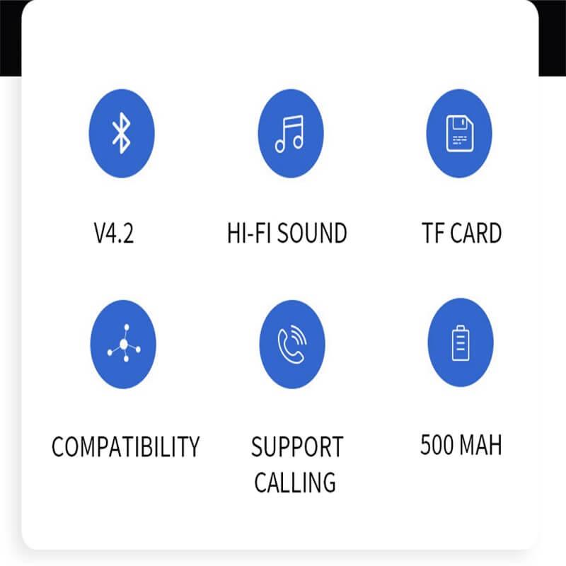 Ball Wireless Speaker Smart Portable Mini Boombox With Led Light (11)