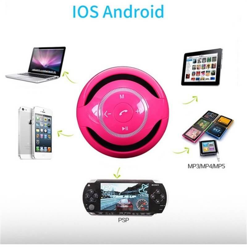 Ball Wireless Speaker Smart Portable Mini Boombox With Led Light (2)