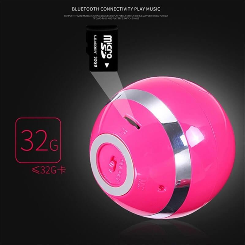 Ball Wireless Speaker Smart Portable Mini Boombox With Led Light (8)