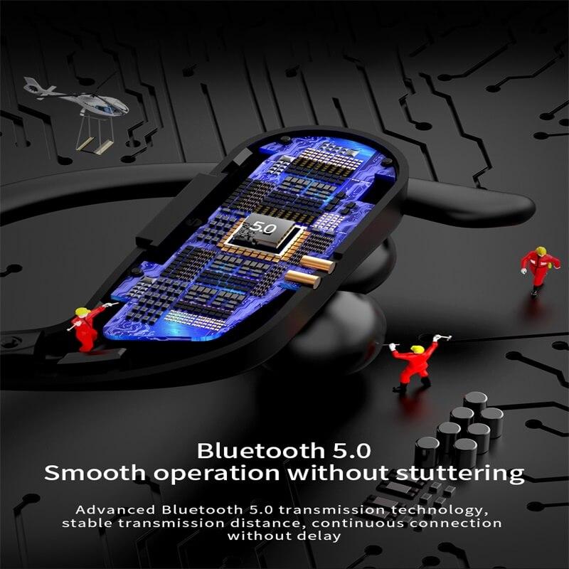 Black Sports Earhooks Tws Earpiece Ture Power Display Quiet Comfort Earbuds (10)