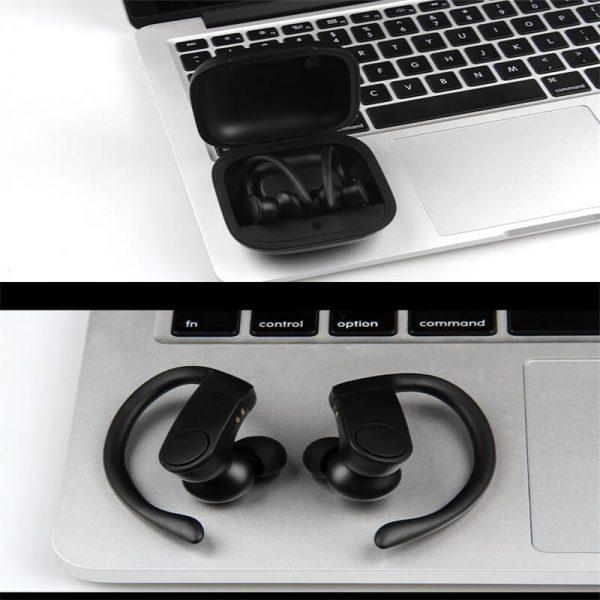 Black Sports Earhooks Tws Earpiece Ture Power Display Quiet Comfort Earbuds (4)