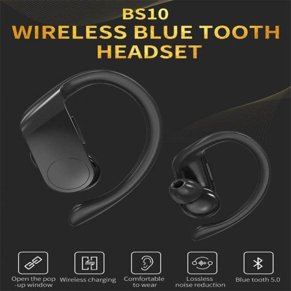 Black Sports Earhooks Tws Earpiece Ture Power Display Quiet Comfort Earbuds (7)