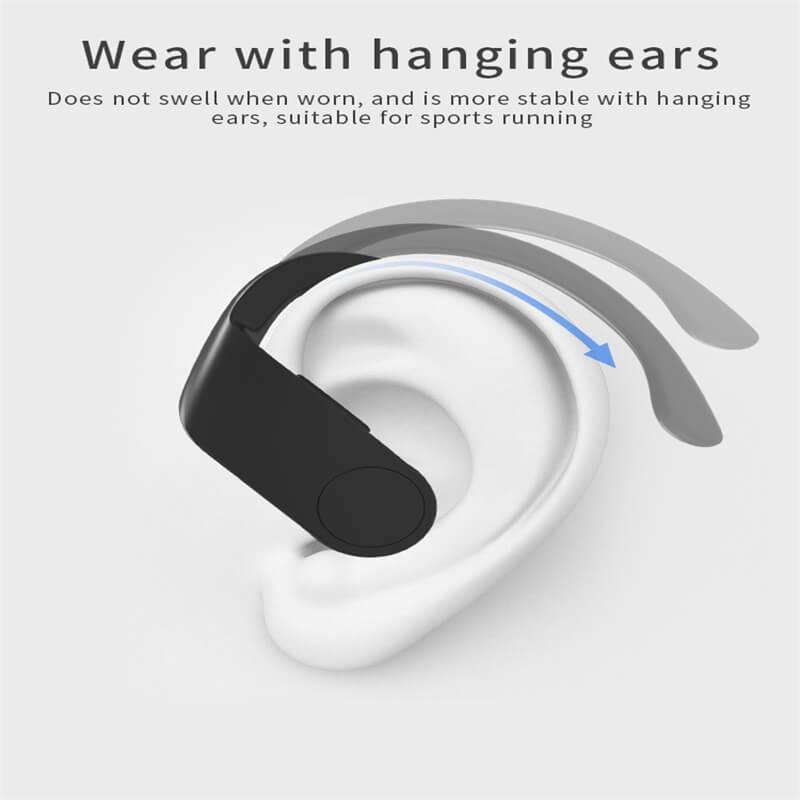 Black Sports Earhooks Tws Earpiece Ture Power Display Quiet Comfort Earbuds (8)