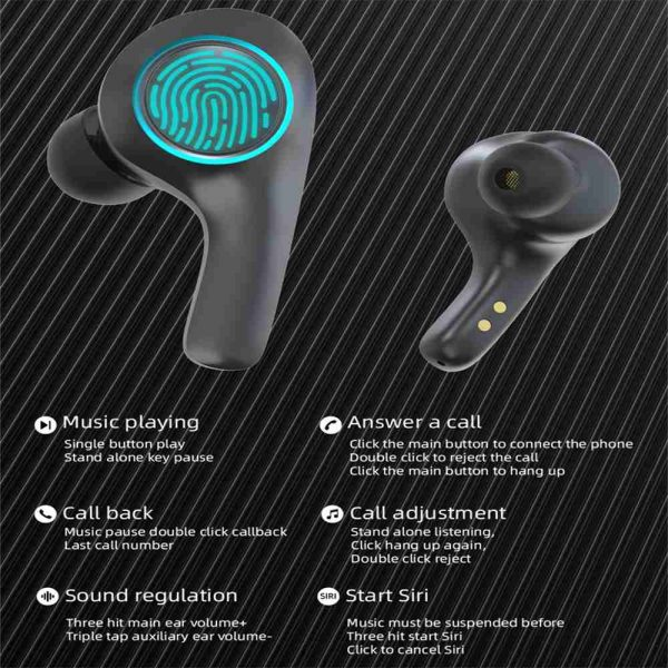 Bluetooth 5.0 Headset Tws Wireless Earphones Earbuds Stereo Dual Headphones For Ios Android (11)