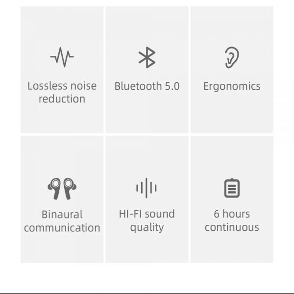 Bluetooth 5.0 Headset Tws Wireless Earphones Earbuds Stereo Dual Headphones For Ios Android (6)