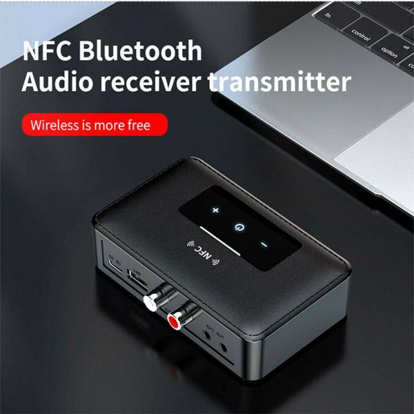 Bluetooth 5.0 Transmitter Receiver Wireless 3.5mm Aux Nfc To 2 Rca Audio Adapter (14)