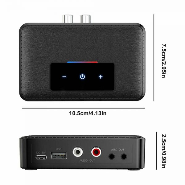 Bluetooth 5.0 Transmitter Receiver Wireless 3.5mm Aux Nfc To 2 Rca Audio Adapter (4)