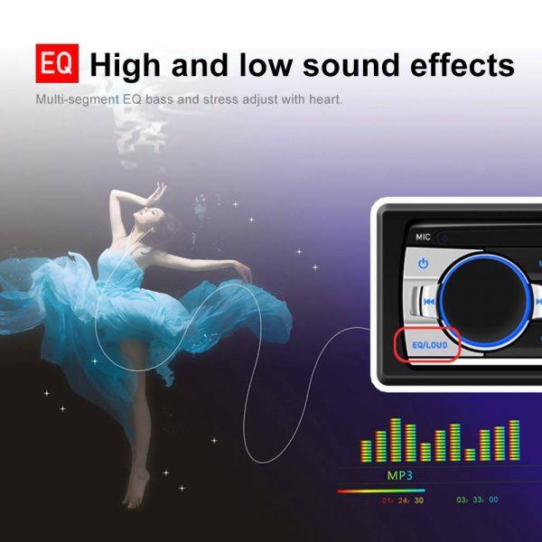 Bluetooth Car Stereo Radio 1 Din Handsfree In Dash 12v Fm Sdusb Aux Head Unit (11)