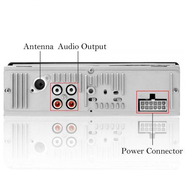Bluetooth Car Stereo Radio 1 Din Handsfree In Dash 12v Fm Sdusb Aux Head Unit (13)