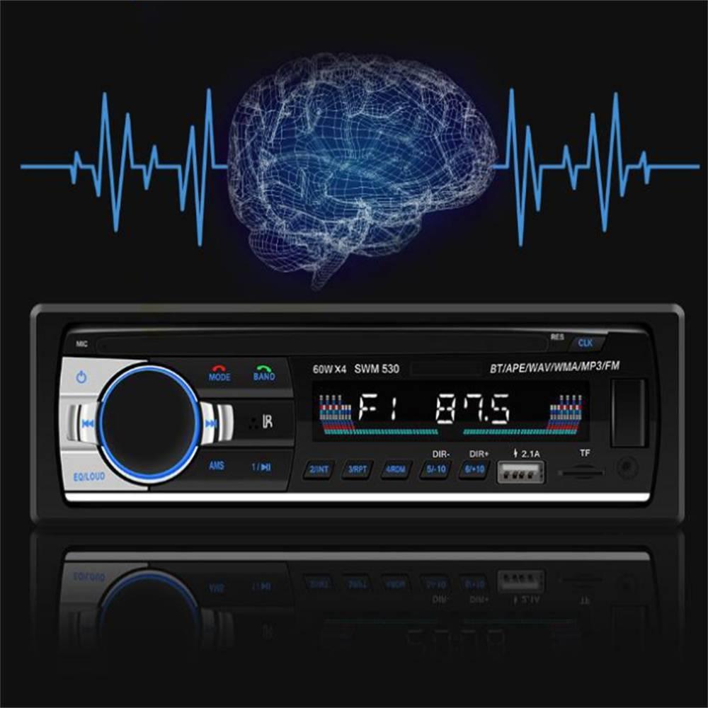 Bluetooth Car Stereo Radio 1 Din Handsfree In Dash 12v Fm Sdusb Aux Head Unit (14)