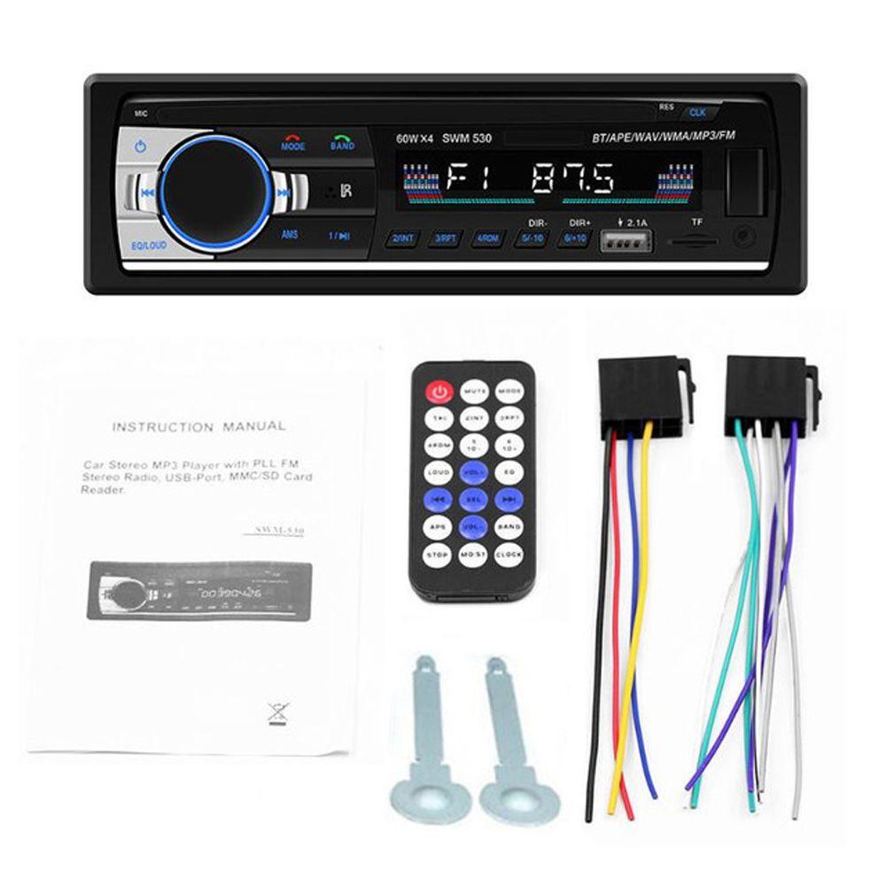Bluetooth Car Stereo Radio 1 Din Handsfree In Dash 12v Fm Sdusb Aux Head Unit (7)