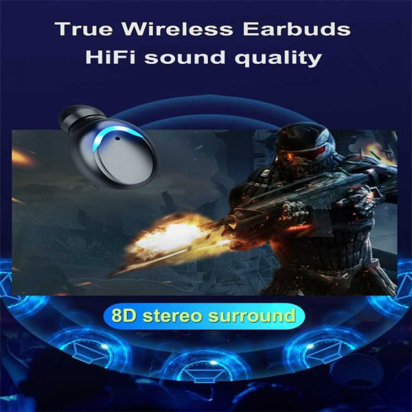 Bluetooth Earbuds For Iphone Samsung Android Wireless Earphone Waterproof Ipx7 (7)