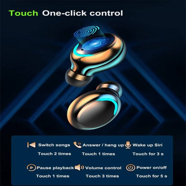 Bluetooth Earbuds For Iphone Samsung Android Wireless Earphone Waterproof Outdoor Sport Headset (10)