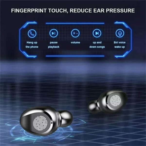 Bluetooth Wireless Earbuds In Ear Touch Control Headphones Led Charging Case High Capacity (3)