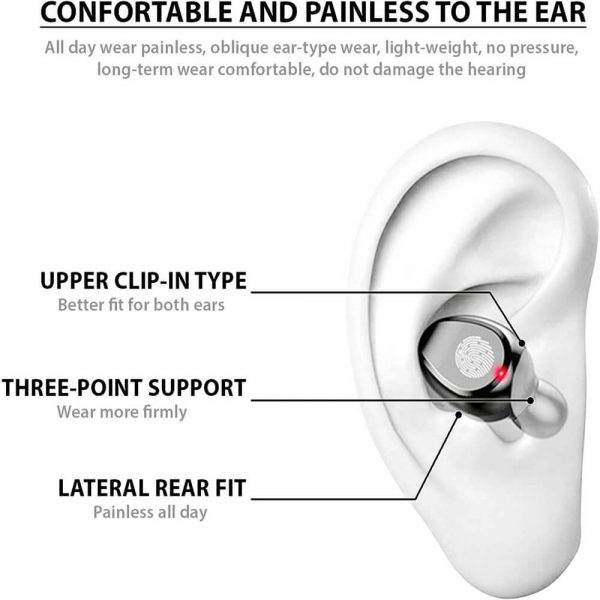 Bluetooth Wireless Earbuds In Ear Touch Control Headphones Led Charging Case High Capacity (4)