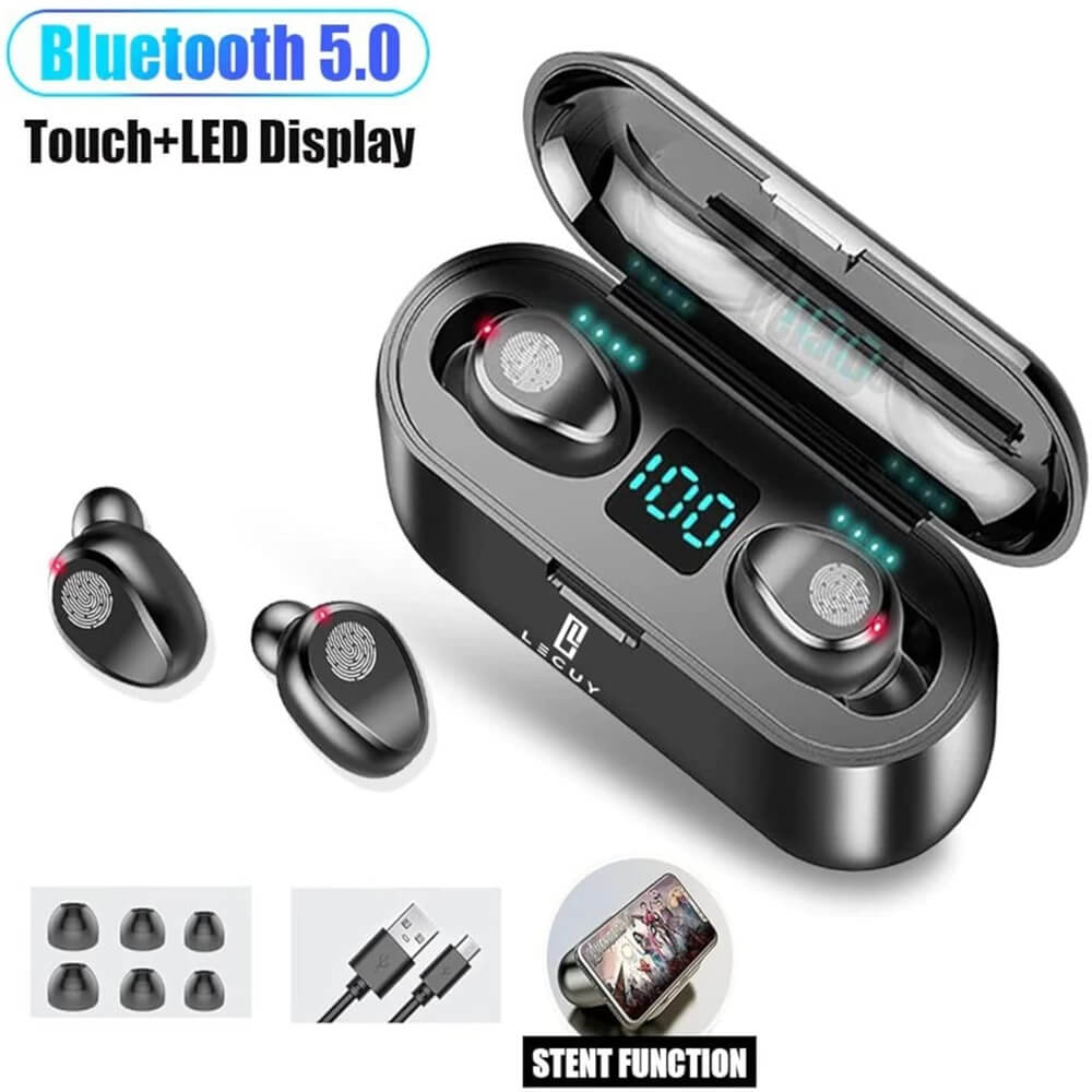 Bluetooth Wireless Earbuds In Ear Touch Control Headphones Led Charging Case High Capacity (6)