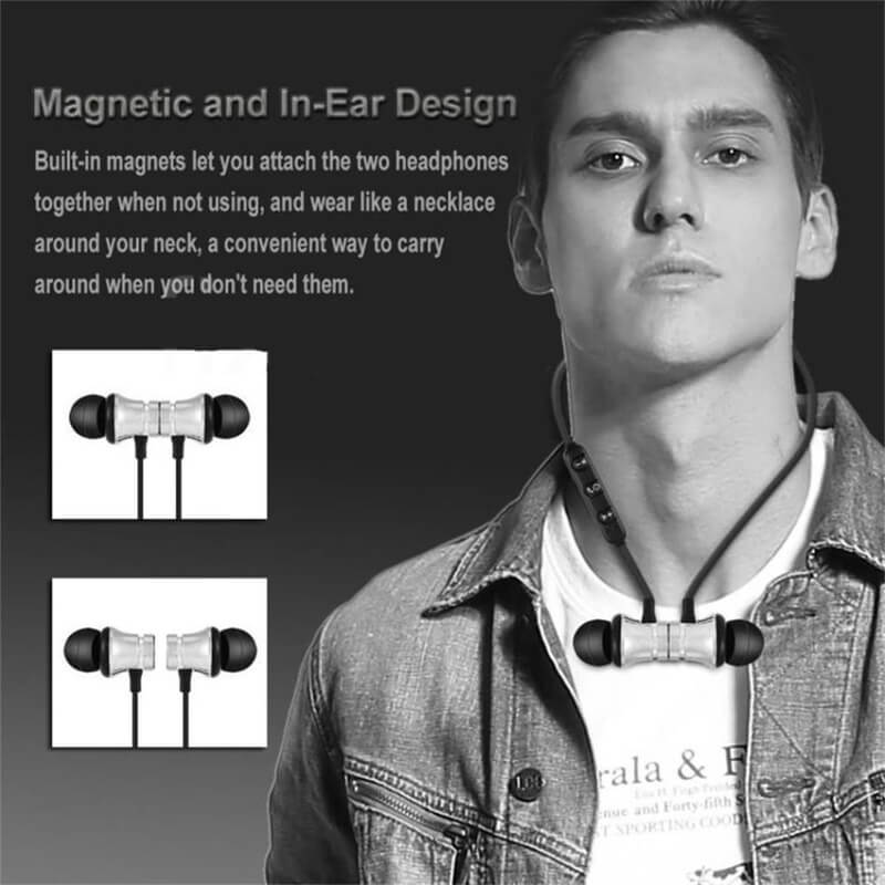 Bluetooths Earphone Wired Headphone With Mic In Ear Neckband Headphone Sport Magnetic Earbuds (1)
