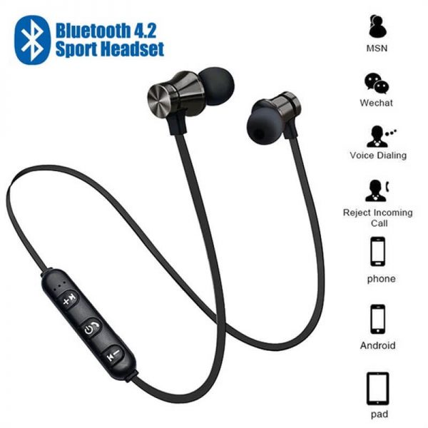 Bluetooths Earphone Wired Headphone With Mic In Ear Neckband Headphone Sport Magnetic Earbuds (2)