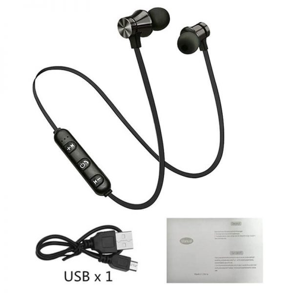 Bluetooths Earphone Wired Headphone With Mic In Ear Neckband Headphone Sport Magnetic Earbuds (3)