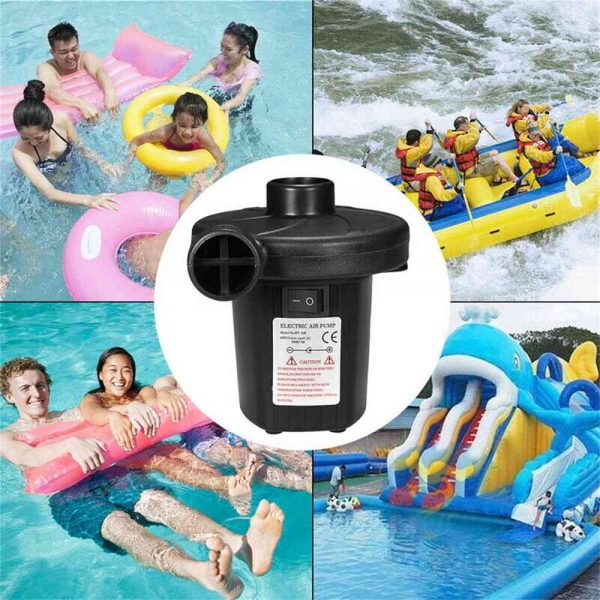 Car Home Electric Air Pump For Paddling Pool Fast Inflator Camping Bed Mattress (10)