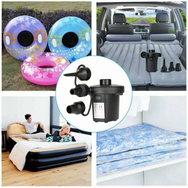 Car Home Electric Air Pump For Paddling Pool Fast Inflator Camping Bed Mattress (11)