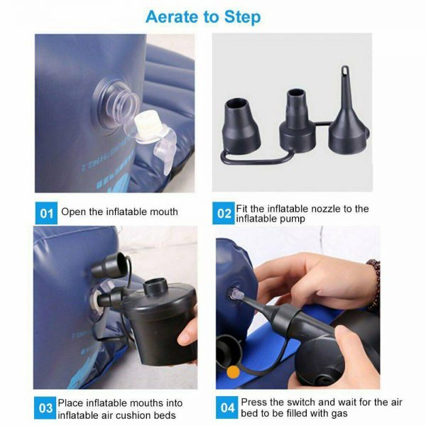 Car Home Electric Air Pump For Paddling Pool Fast Inflator Camping Bed Mattress (13)