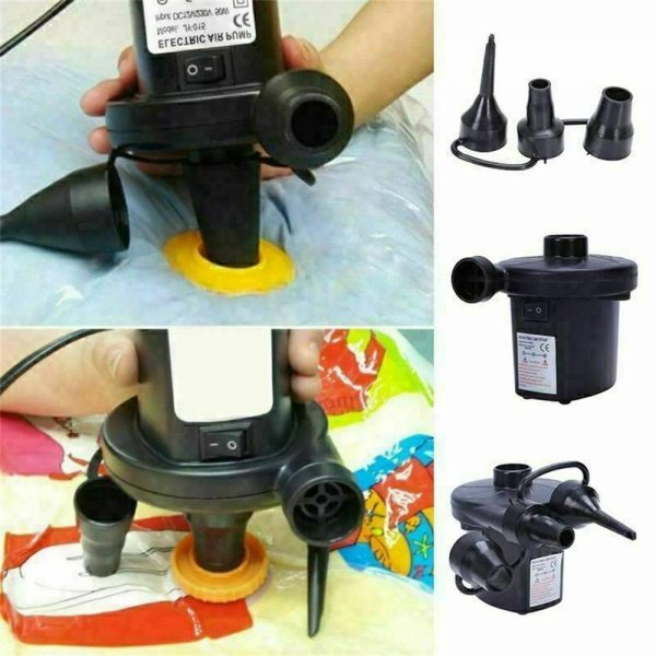 Car Home Electric Air Pump For Paddling Pool Fast Inflator Camping Bed Mattress (16)