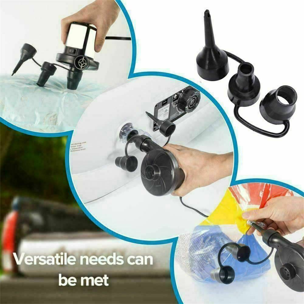 Car Home Electric Air Pump For Paddling Pool Fast Inflator Camping Bed Mattress (4)