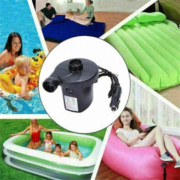 Car Home Electric Air Pump For Paddling Pool Fast Inflator Camping Bed Mattress (6)