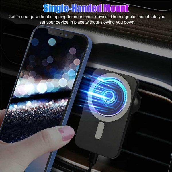 Car Wireless Fast Charger Magnetic Phone Mount Holder For Iphone 12 Pro Max Mini (12)