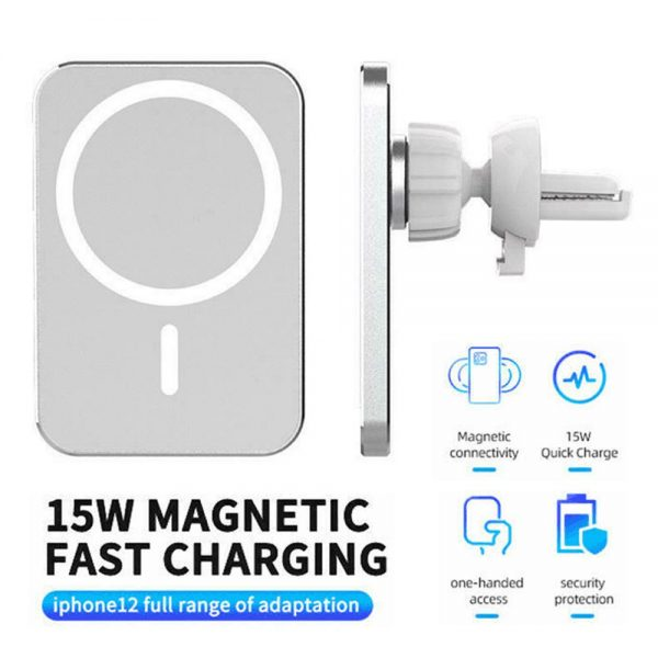 Car Wireless Fast Charger Magnetic Phone Mount Holder For Iphone 12 Pro Max Mini (2)