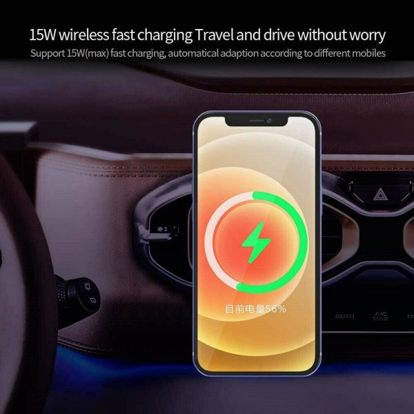 Car Wireless Fast Charger Magnetic Phone Mount Holder For Iphone 12 Pro Max Mini (4)