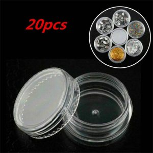 Clear Plastic Empty Cosmetic Sample Pots Art Craft Storage Containers Jars (12)