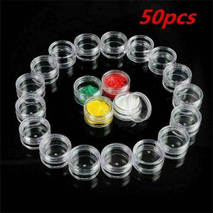 Clear Plastic Empty Cosmetic Sample Pots Art Craft Storage Containers Jars (13)