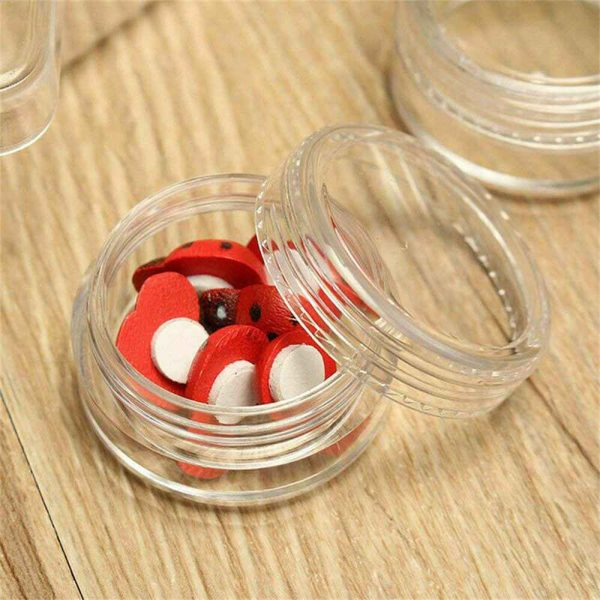 Clear Plastic Empty Cosmetic Sample Pots Art Craft Storage Containers Jars (7)