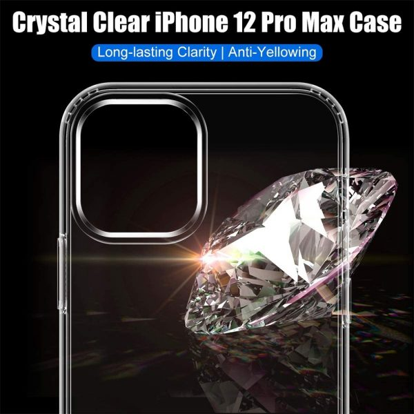 Clear Shockproof Tpu Slim Hard Phone Cover For Iphone 11,12 Mini,12 Pro Max Case (10)