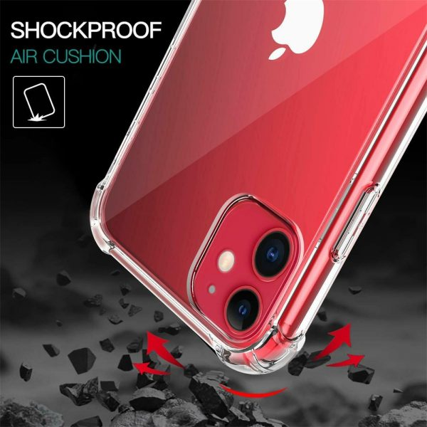 Clear Shockproof Tpu Slim Hard Phone Cover For Iphone 11,12 Mini,12 Pro Max Case (11)